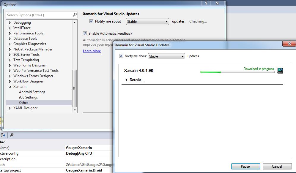 Update Xamarin for Visual Studio 2015