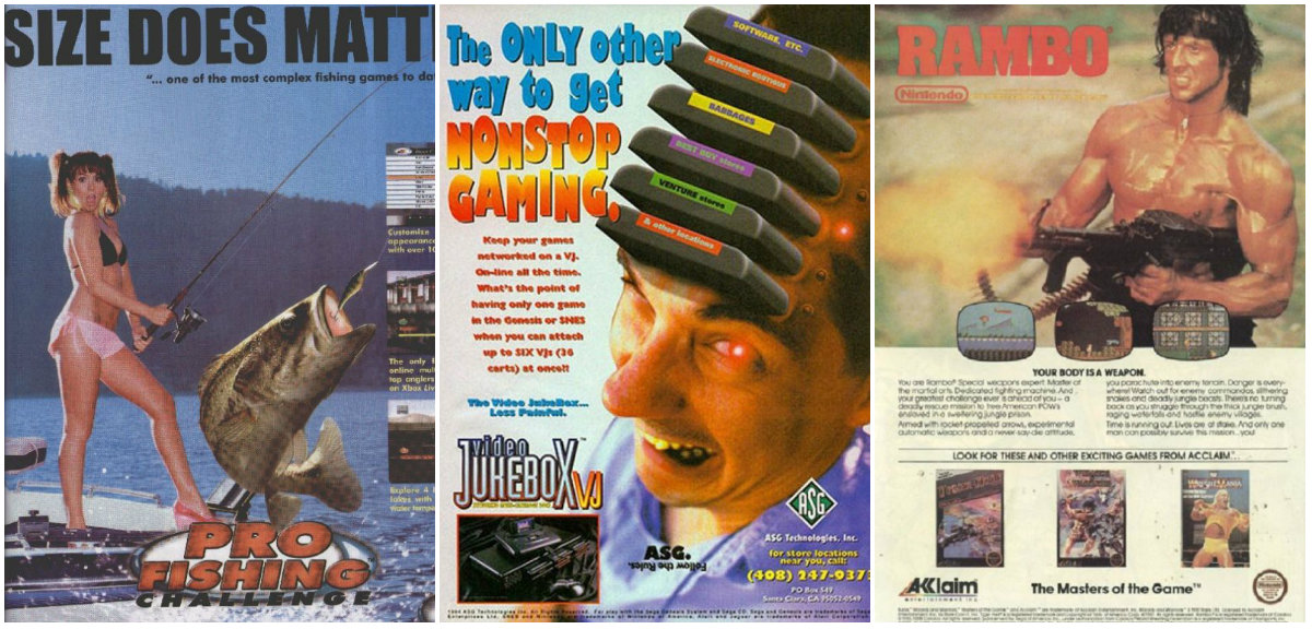 Let's Look and Laugh at Some Wacky Vintage Video Game Ads