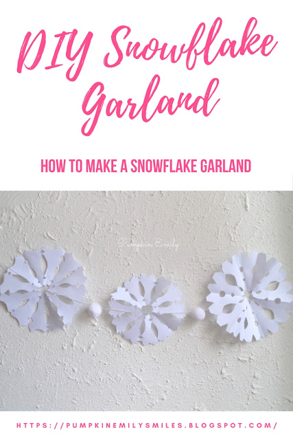 DIY Snowflake Garland