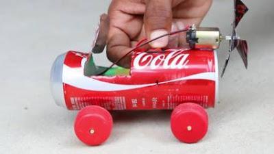 Cara Membuat Miniatur Mobil dari Kaleng Bekas Bermotor dan Sederhana