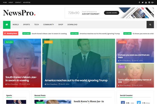 NewsPro – Responsive Magazine Blogger Template