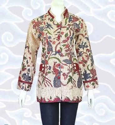 Contoh Model Baju Batik Atasan trendy