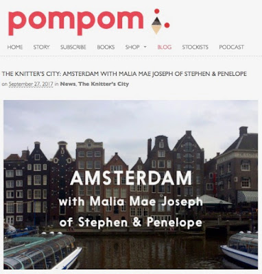 screenshot pompommag.com Artikel THE KNITTER'S CITY: AMSTERDAM WITH MALIA MAE JOSEPH OF STEPHEN & PENELOPE