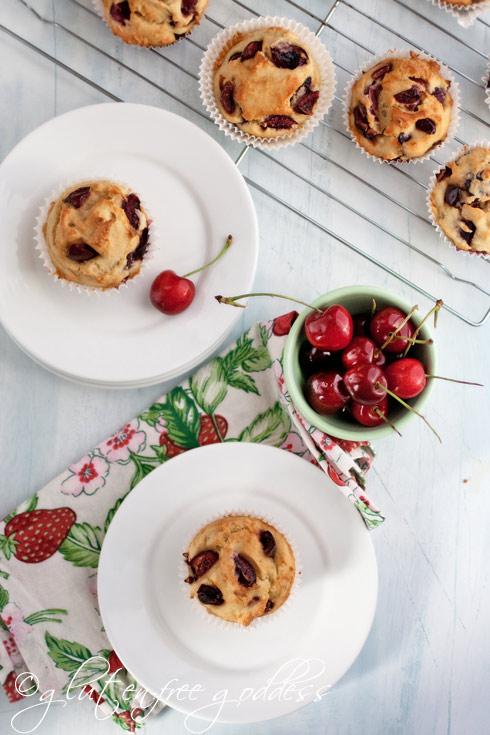 Gluten-Free Cherry Almond Muffins