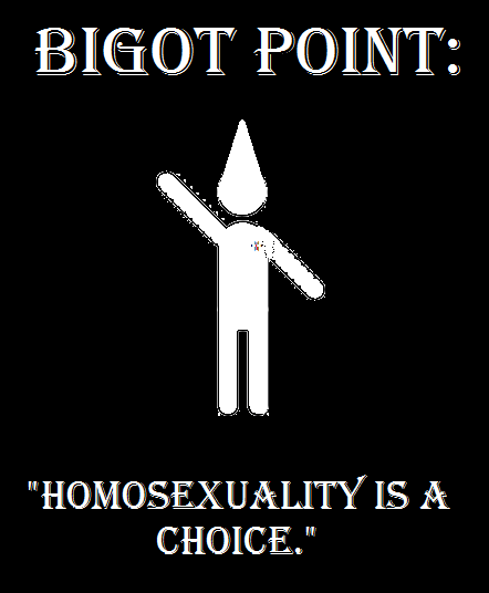Homosexuality is a choice argument