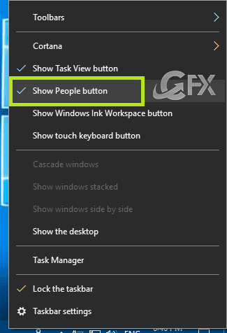 Show People button
