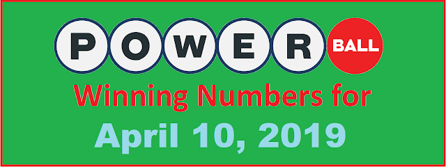 PowerBall Winning Numbers for Wednesday, April 10, 2019