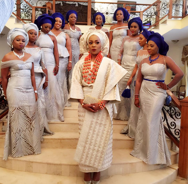 Ashley Coco Adeleke and her bridesmaid at her wedding
