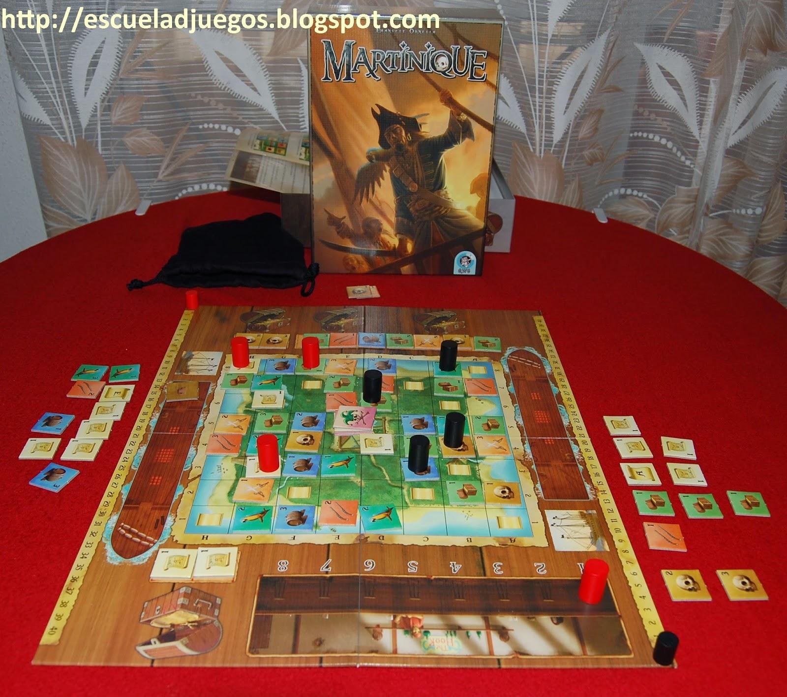 Reseña de Martinique, juego de mesa para 2 jugadores de Quined White Goblin Games