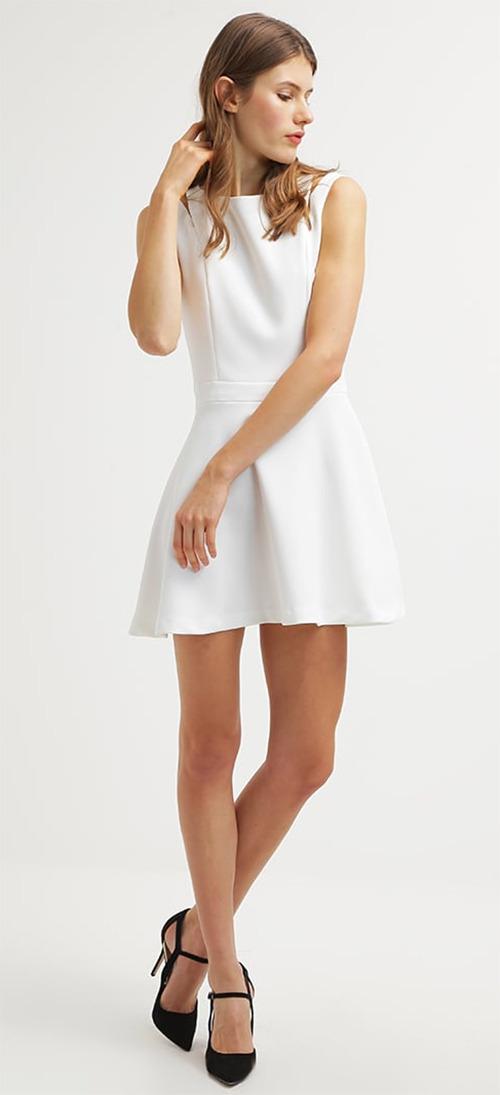 Robe courte de soirée blanche MARCIANO GUESS