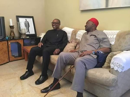 Peter Obi Visits Ohaneze Ndigbo President (Photos)