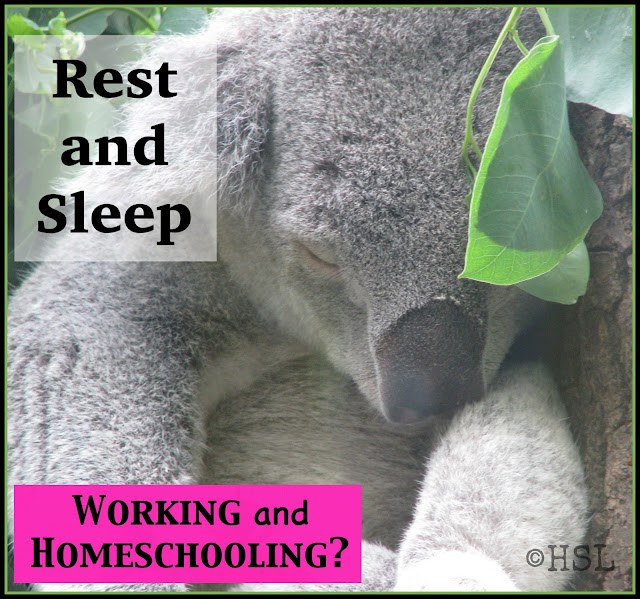 rest and sleep, blogging the alphabet, homeschooling high school