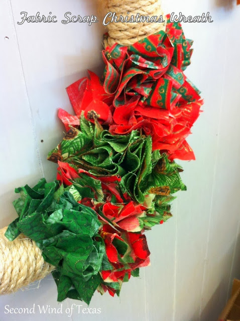 Fabric Scrap Christmas Wreath