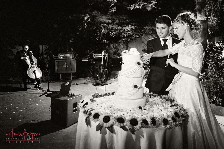 taglio della torta ricevimento matrimonio a La Federica Novi Ligure
