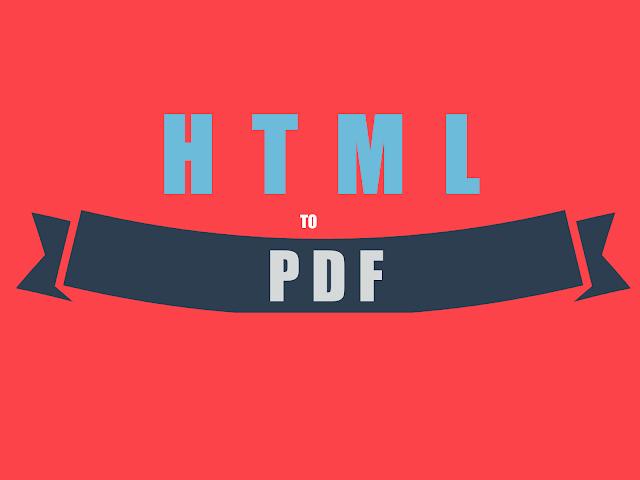 Convert Webpage to PDF