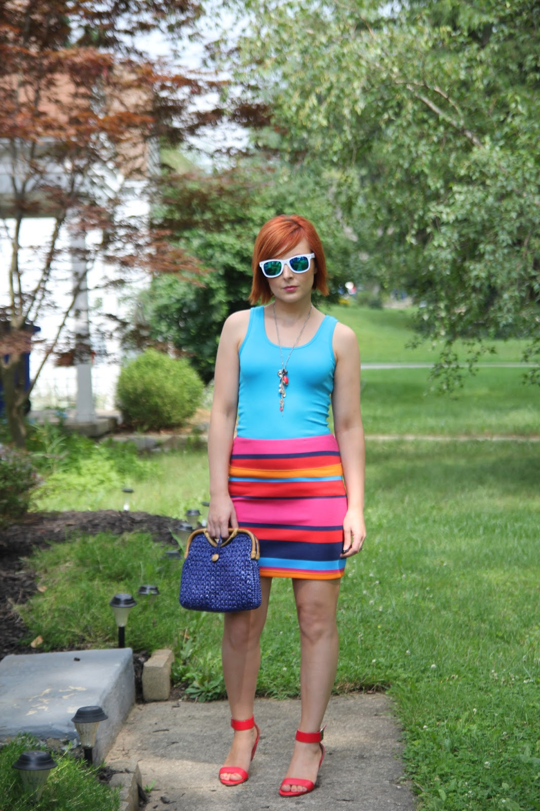 Thrift And Shout: Cute Outfit Of The Day: Summer Stripes