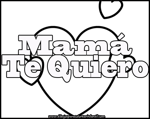 Mami te amo coloring pages coloring pages for Te amo coloring pages