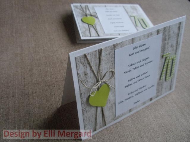 ellis eventkarten tischkarten zum 70 geburtstag. Black Bedroom Furniture Sets. Home Design Ideas