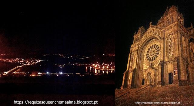 Monte de Santa Luzia à noite