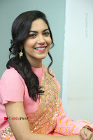 Actress Ritu Varma Pos in Beautiful Pink Anarkali Dress at at Keshava Movie Interview .COM 0266.JPG
