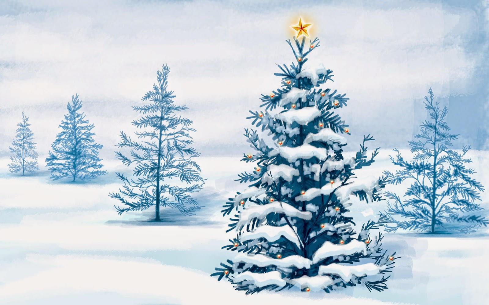 Christmas-tree-covered-in-snow-with-star-shining-at-top-cartoon-image-pictures.jpg