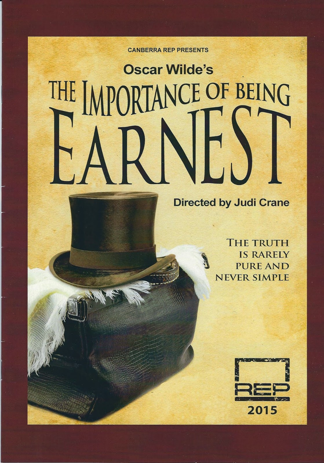 a review of oscar wildes the importance of being earnest 286 quotes from the importance of being earnest: 'the truth is rarely pure and never simple.