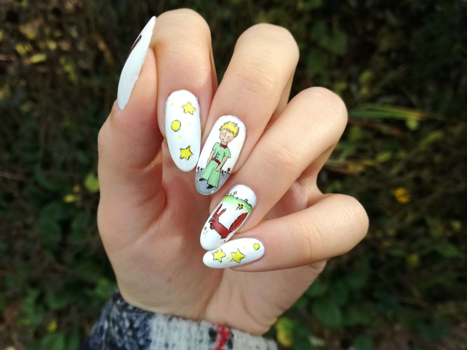 paznokcie z małym księciem