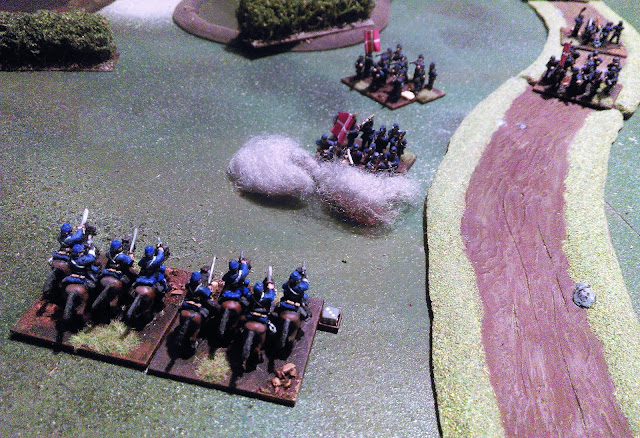 Battle of Oeversee 1864 scenario: Rash, brash and ill fated charge of the Austrian 9th Hussars into a Danish infantry column