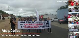 Paralisação demonstra a força dos servidores de São Vicente do Seridó