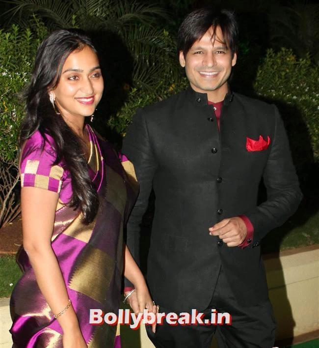 Priyanka and Vivek Oberoi, Bollywood Babes at Vishesh Bhatt Wedding Reception