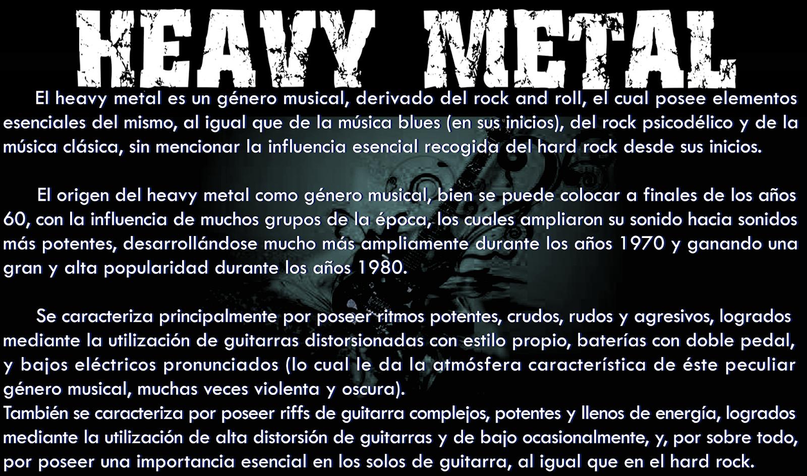 Canciones de metal para sexo