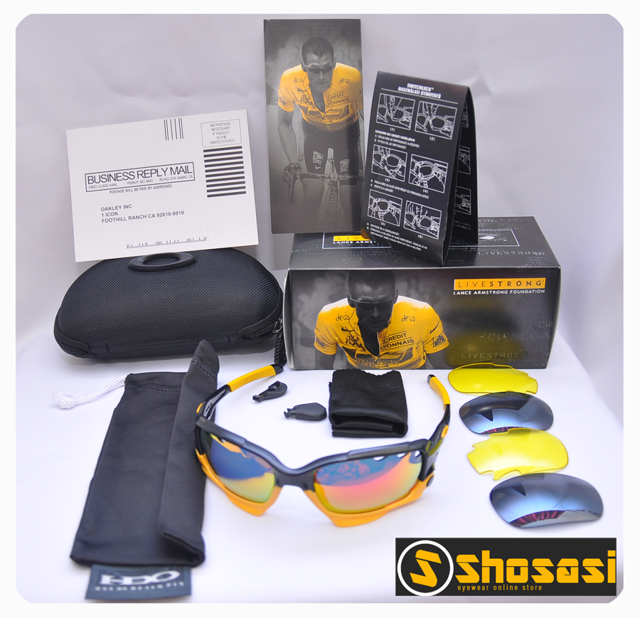 c7b95b6430 Shosasi  Oakley Jawbone - Livestrong Black Yellow Edition