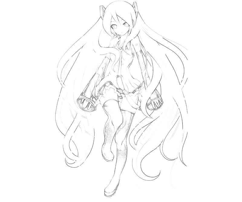 hatsune miku coloring pages - photo #27