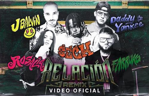 Relacion (Remix) | Sech & Daddy Yankee & J Balvin & Rosalia & Farruko Lyrics