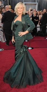 Glenn Close in Zac Posen, Oscars 2012