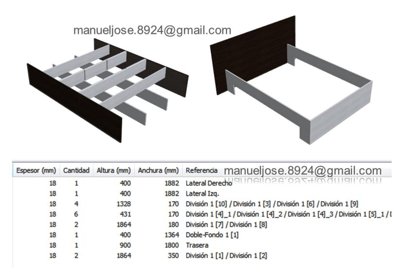 Dise o de muebles madera c mo crear una cama con mdf for Melamina pdf