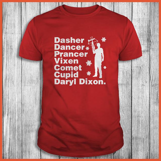 Dasher dancer prancer vixen comet cupid Daryl Dixon Shirt