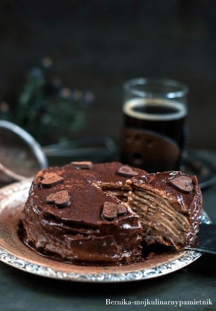 tort, torcik, ksiecia regenta, czekolada, biszkopt, deser, bernika, kulinarny pamietnik