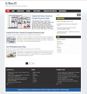 Sl Wuss v3 blogger template fast loading SEO optimized