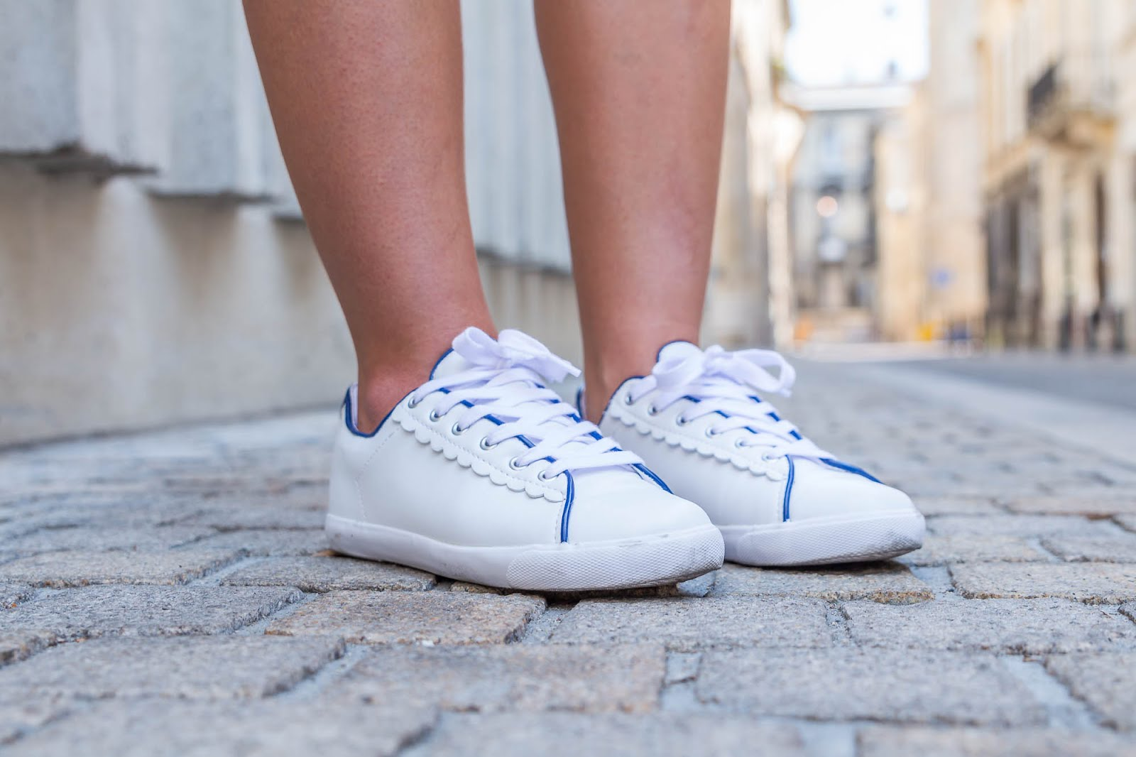 sneakers blanches La Redoute