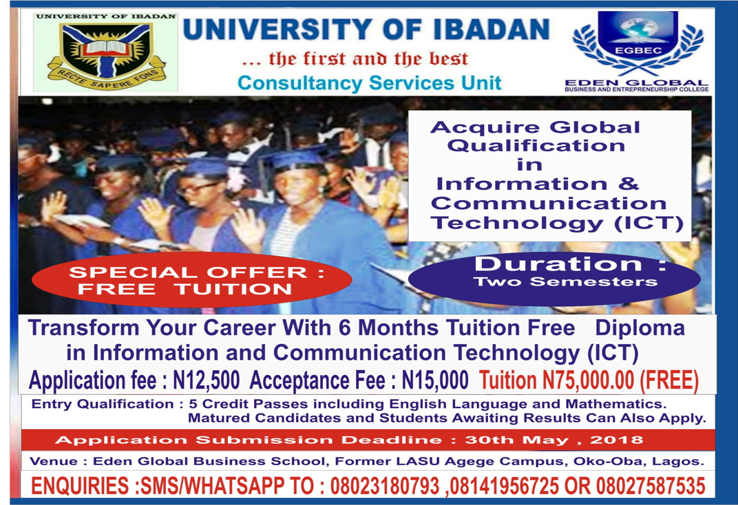 UICONSULT Partners Eden Global Computer College To Offer Tuition Free Professional Diploma In Information And Communications Technology