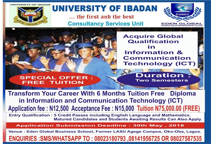 UICONSULT Partners Eden Global Computer College To Offer Tuition Free Professional Diploma In ICT