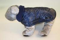 Kabátik Eugen - modrý s podšívkou modrou, zateplený