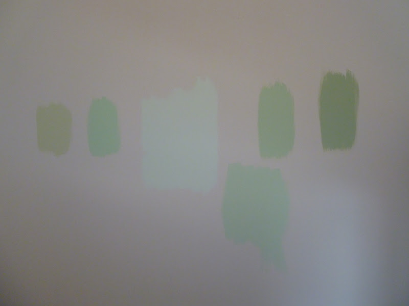 Only From Scratch: Painting Tip: Paint Samples on the Wall