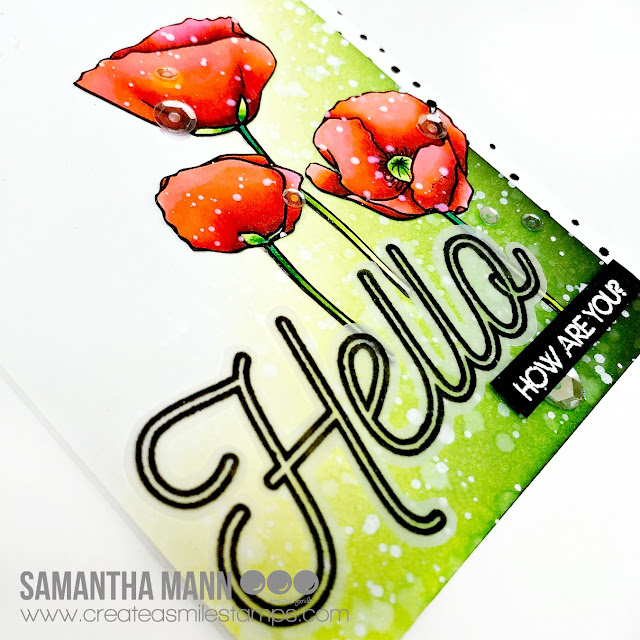 Hello, How Are You Card by Samantha Mann - Create a Smile Stamps, Zig Clean Color Real Brush Markers, Distress Ink, Handmade Card, #flowers, #createasmilestamps, #cards