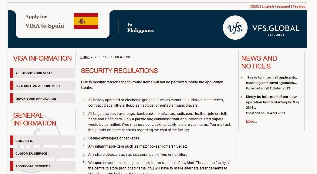 Spain Vfs Global Website