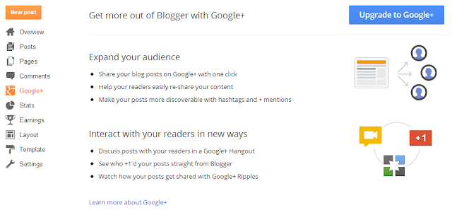 Upgrade to Google+