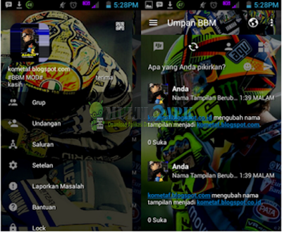 Download Aplikasi BBM Mod Valentino Rossi Versi 3.0.1.25 Apk Android Terbaru