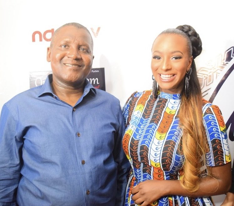 DJ Cuppy Wishes Aliko Dangote A Happy Birthday.
