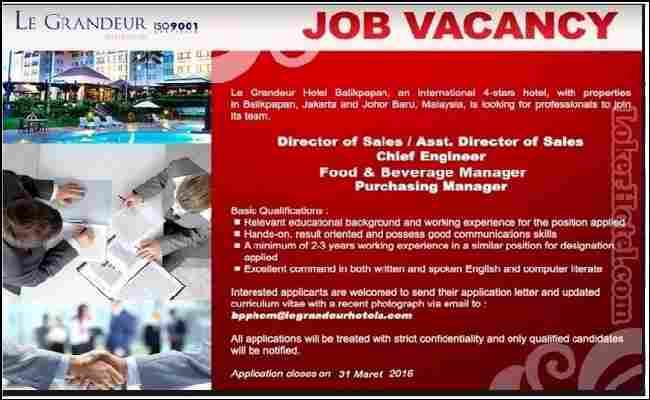 Iklan Lowongan Pekerjaan Dalam Bahasa Inggris sebagai sales dan director